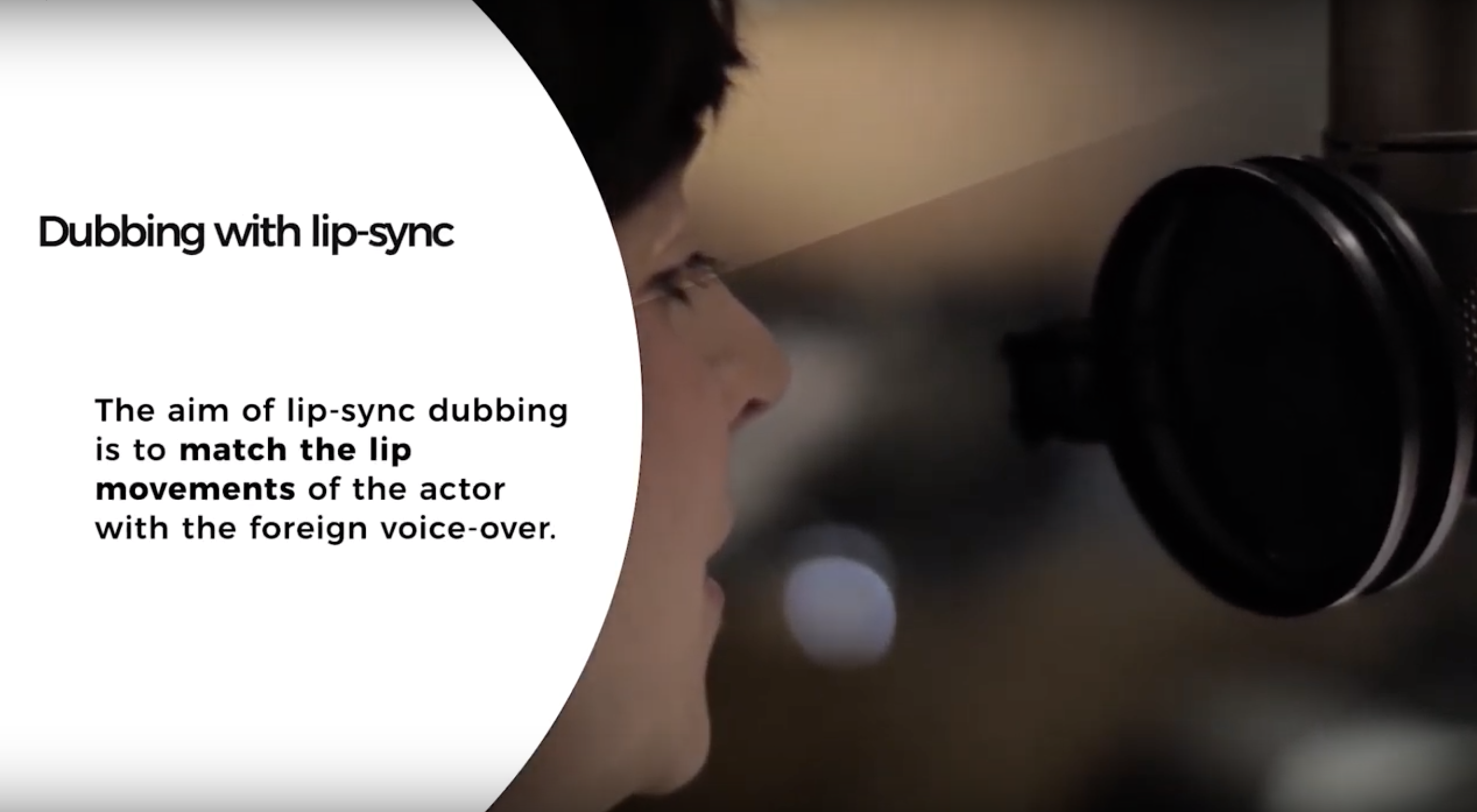 Video Localization: Voice-Over and Dubbing